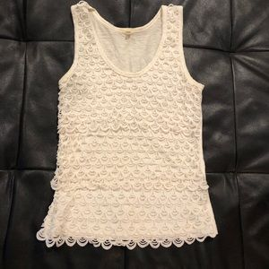 J. Crew Lace Holiday Collection Tank Top